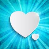 Coeur au-dessus de fond bleu Photos libres de droits