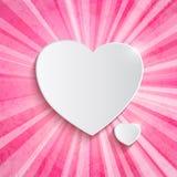 Coeur au-dessus de fond rose Images libres de droits