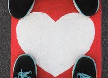 Coeur au sol Photographie stock libre de droits