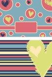 Coeur audacieux Notecards orienté Photographie stock libre de droits