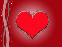 Coeur avec amour illustration stock