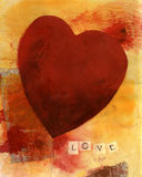 Coeur avec AMOUR 2 Photographie stock