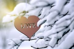 Coeur avec amour le jour du ` s de Valentine Images libres de droits