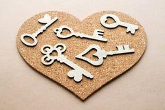 Coeur avec beaucoup de clés Image libre de droits