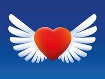 Coeur avec des ailes Photographie stock libre de droits