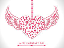 Coeur avec des ailes pour la célébration de Saint-Valentin Photographie stock libre de droits