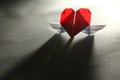 Coeur avec des ailes - rapport interurbain Image stock