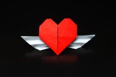 Coeur avec des ailes - rapport interurbain Photos stock