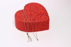 Coeur avec des bijoux Photographie stock