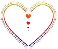 Coeur avec des coeurs Photographie stock libre de droits