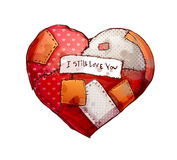 Coeur avec des corrections Photo stock