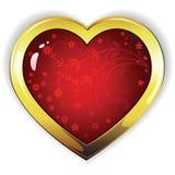 Coeur avec des fleurs Image libre de droits