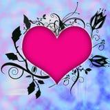 Coeur avec des fleurs Image stock