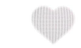 Coeur avec des mots Photo stock