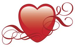 Coeur avec des ornements Photo libre de droits