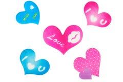 Coeur avec des symboles Photos libres de droits