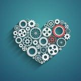 Coeur avec des trains illustration libre de droits