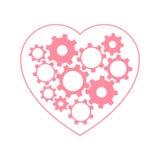 Coeur avec des vitesses à l'intérieur Images libres de droits