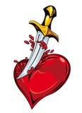 Coeur avec l'épée Photos libres de droits