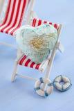 Coeur avec l'île de Majorque Image stock