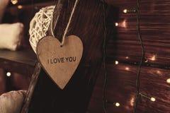 Coeur avec l'amour de mot vous Photos libres de droits