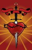 coeur avec l'illustration de poignard Images stock