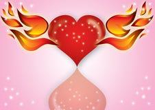 coeur avec l'incendie Images stock