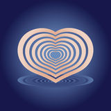 Coeur avec l'ombre illustration libre de droits