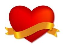 Coeur avec la bande illustration stock