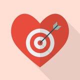 Coeur avec la cible Image libre de droits