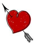 Coeur avec la flèche Photo stock
