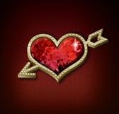 Coeur avec la flèche Image stock