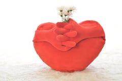 Coeur avec la fleur Images libres de droits