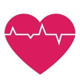 Coeur avec la ligne de vie Photographie stock libre de droits