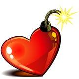 Coeur avec la mèche Images libres de droits