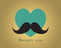 Coeur avec la moustache Photographie stock libre de droits