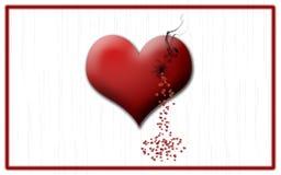 Coeur avec la pénétration Photographie stock libre de droits