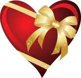 Coeur avec la proue Photographie stock libre de droits