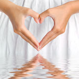 Coeur avec la réflexion Photos libres de droits