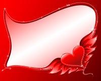 Coeur avec la trame d'ailes Photo stock