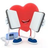 Coeur avec le défibrillateur Photographie stock