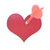 Coeur avec le dard visé au centre Image libre de droits