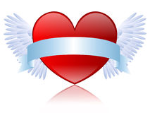 Coeur avec le drapeau Image stock