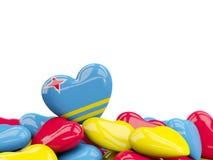 Coeur avec le drapeau d'Aruba Image stock