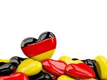 Coeur avec le drapeau de l'Allemagne illustration libre de droits