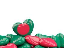 Coeur avec le drapeau du Bangladesh Photo stock