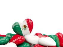 Coeur avec le drapeau du Mexique illustration de vecteur
