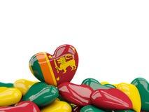 Coeur avec le drapeau du Sri Lanka illustration libre de droits