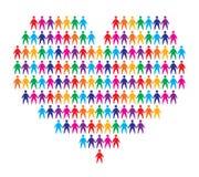 Coeur avec le fond de gens Image libre de droits