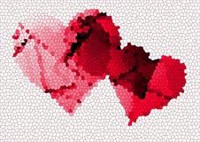 Coeur avec le fond graphique Photographie stock libre de droits